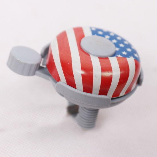 High Credit Bicycle Parts Accessories America Flag Bicycle Bell (9379) pictures & photos