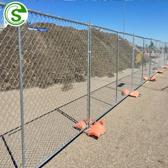 China Supply Work Site Move Fence Galvanized Iron Hot Galvanizing Temporary Fence