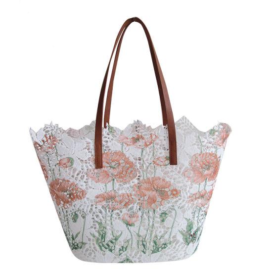Printing Fabric Fashion Lady Handbag/ Lace Tote Bag/Designer Bag/Ladies' Bag