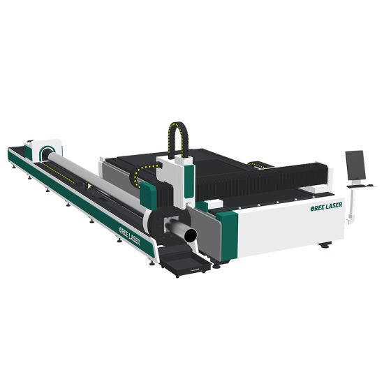 1500W 3015 6m CNC metal sheet and pipe combined fiber laser cutter