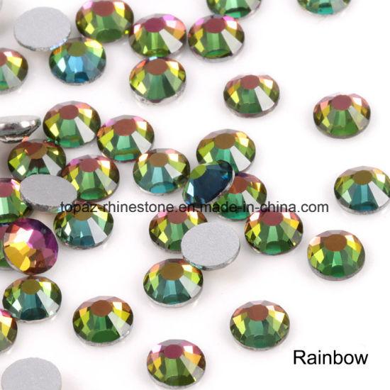 Ss6 Ss8 Ss10 Ss12 Rainbow Nail Rhinestones for Nails Art Glitter Crystals  Decorations DIY Non Hotfix 374360f9ec69