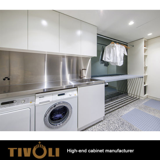 China Customizable Laundry Sink Storage Cabinets With Doors Tv 0299