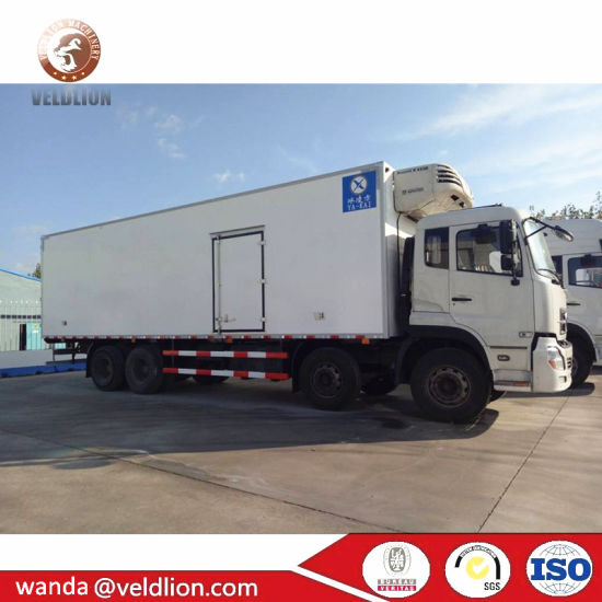 Dongfeng 8X4 12 Wheels Heavy 25ton Cooling Van Refrigerated Transport Truck Box pictures & photos