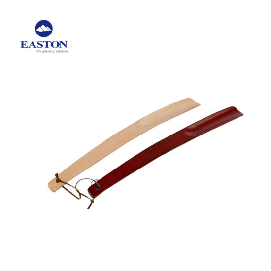 Square Head Wooden Shoe Horn With Hanging Strap