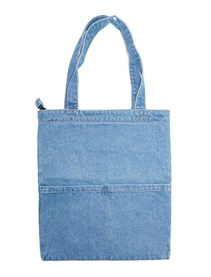 748248b7c9 Jean Canvas Tote Bag Shoulder Handbag Shopping Hobo Bags pictures   photos