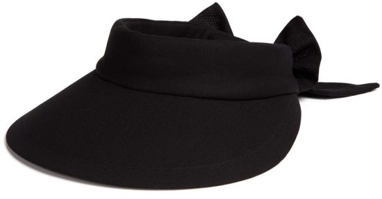 Sedex Audit 100% Cotton Sun Protection Tennis Golf Black Bowknot Visor Hat  with Big Brim cd87c0c80afe