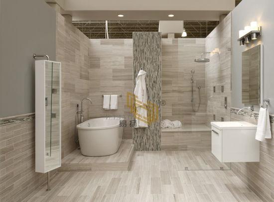 Beige Wooden White Marble Stone Tiles/Mosaic/Slabs for Bathroom/Villa