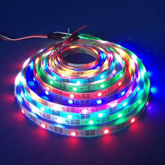 Smart Ws2812 Ws 2812b Pixel 5V Addressable Full Color RGB RGBW Flexible LED  Arduino-Compatible Ws2812b IC Strip