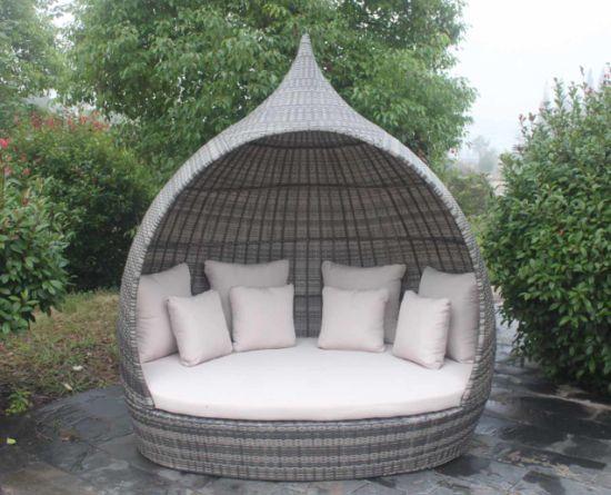 Rattan Sunbed Aluminium Tube Outdoor Furniture