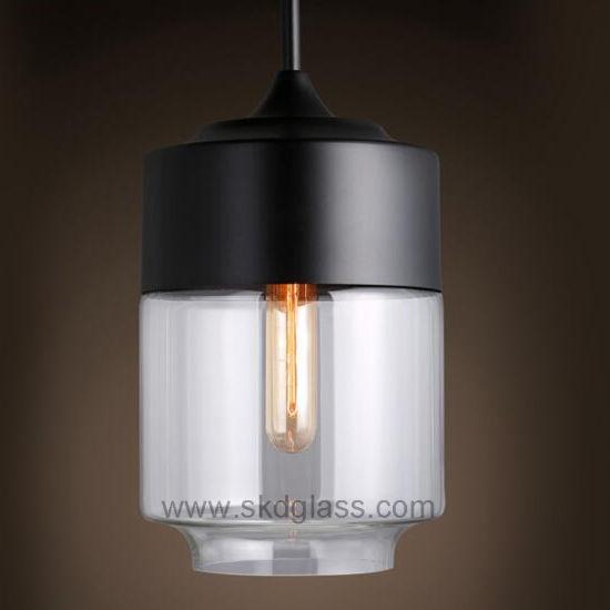 China Hand Blown Glass Lamp Shade For Pendant Lighting