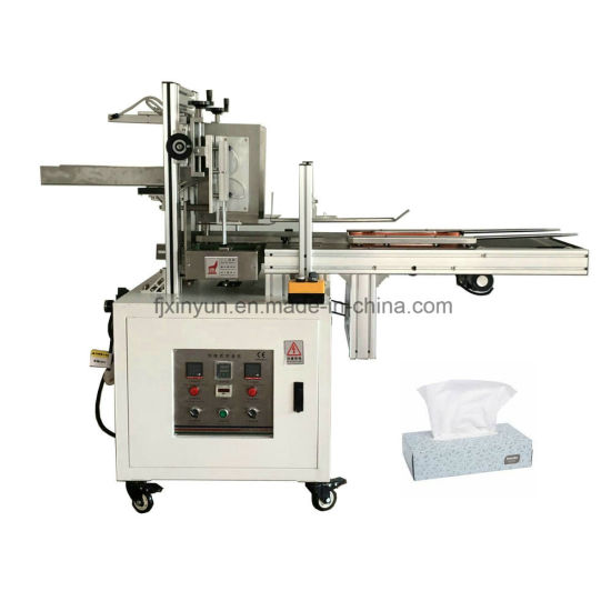 Semi Automatic Facial Tissue Paper Cardboard Box Packing Machine pictures & photos