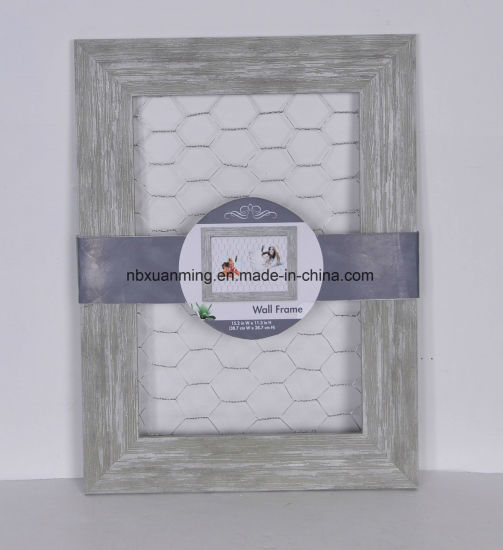 China Wood Picture Frame Chicken Wire with Clothespin Clips, Photo ...