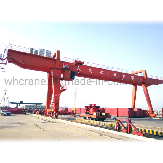 China Top Supplier Weihua Double Girder Electric Type Gantry Crane 50 Tons