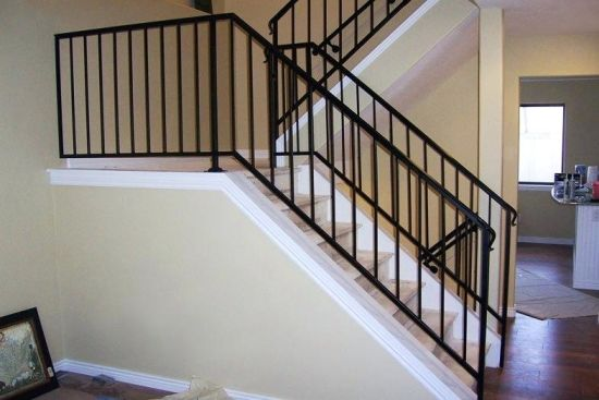 China Home Stair Railing Design Wrought Iron Balcony Wrought Iron Residential Flat Top Fence China Stair Railing Balcony,Garage Storage Cabinet Design Ideas