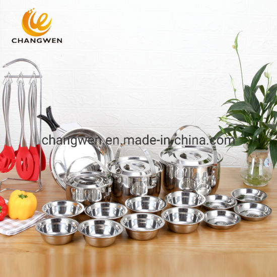 20PCS Stainless Steel Cookware Set for Camping