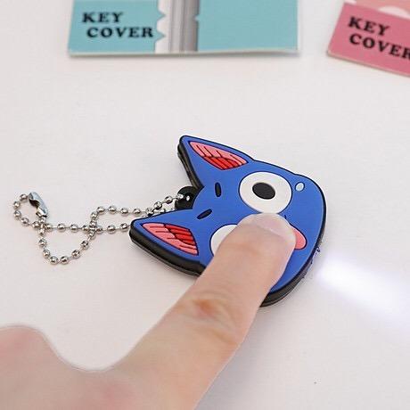 Customized 3D Cartoon PVC Soft Rubber LED Light Keychain