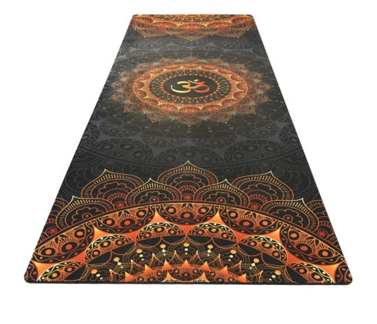 Umineux Yoga Mat Natural Rubber Eco Friendly 5mm Extra Thick Non Slip Suede Premium Print Exercise Fitness Mat