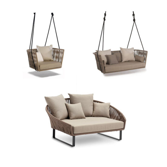 China Garden Furniture Rattan Swing Chair Outdoor Chair Rope Hanging Chair China Outdoor Furniture Outdoor Chair