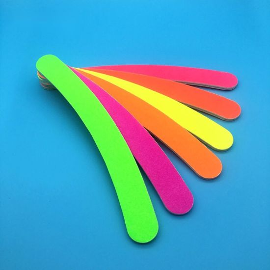 Nail File Banana Buffer 100/180 Colorful Emery Board Polish Care pictures & photos