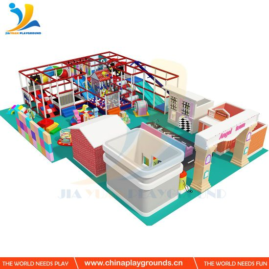 Soft Indoor Playground with Children House for Role Play