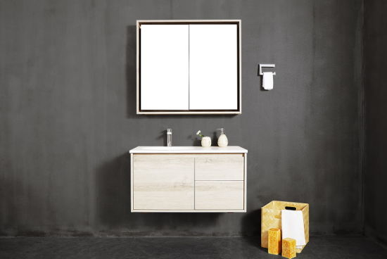 Deb 1500*500*450mm, Cutomized Cabinet Solid Surface Wall Hung New Product Modern Bathroom Cabinet pictures & photos