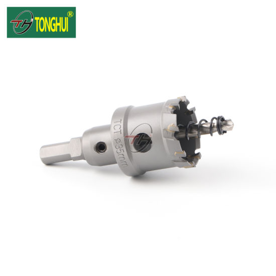 15mm Metal Drilling Bright Finish Tct Hole Saw Cutter with Adapter