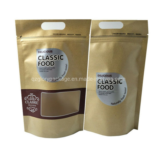 Tea Coffee Packaging Kraft Paper Bag with Window pictures & photos