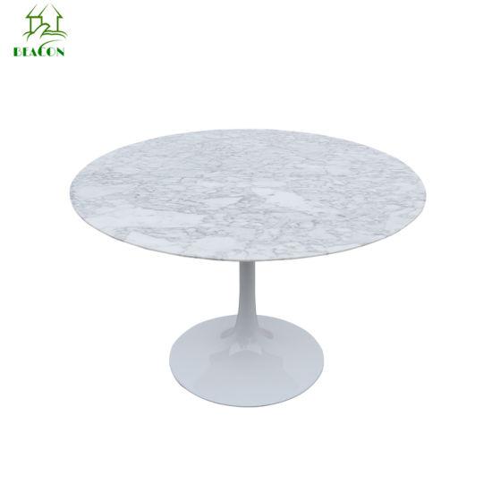 47inch Eero Saarinen Tulip Carrara White Natural Marble Round Dining Table