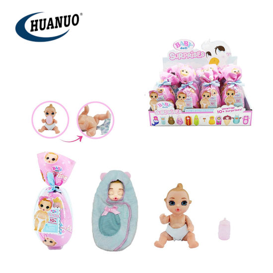 New Promotional Infant Silicon Baby Doll Toys Unwrap Surprises Dolls pictures & photos