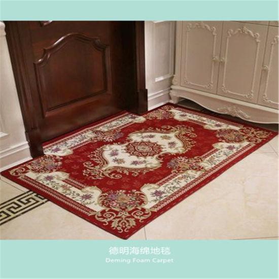 Good Sale Design Hollywood Pu Foam Carpet Grey Color Floor Rugs Area Rugs Wool Carpet