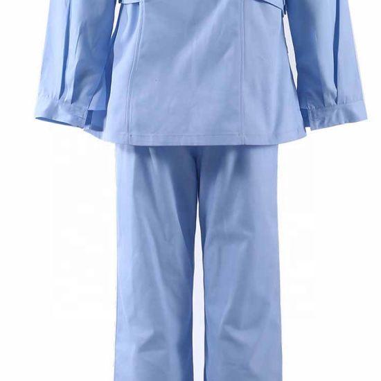 Wholesale 100% Cotton Fashionable Medical Hospital Scrubs Suit