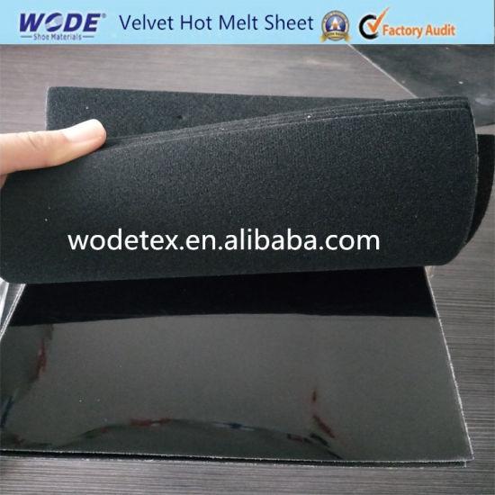 Mixed Color Velvet Hot Melt Sheet for Footwear