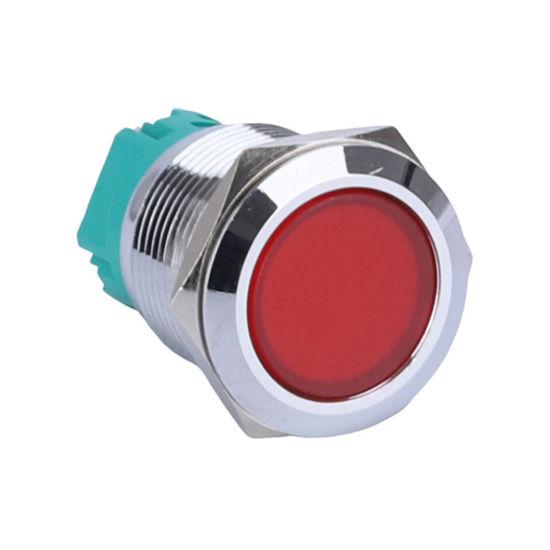 Full Button Illuminated Red LED IP67 Waterproof Momentary Indicator Switch