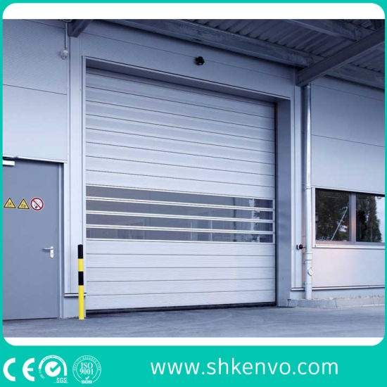 Industrial Automatic Metal Spiral Rapid Rise Doors for External Use in Warehouse or Car Factory