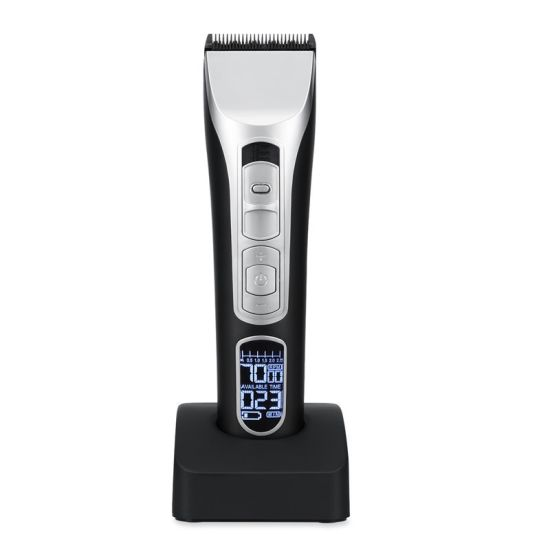 High Quality Electric Rechargeable Hair Clipper with Charge Base