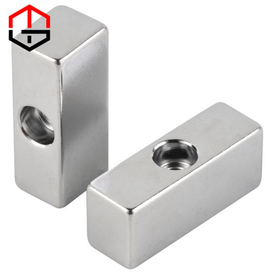 N52 NdFeB Strong High Working Temperature Countersunk Permanent Neodymium Magnet for Motor