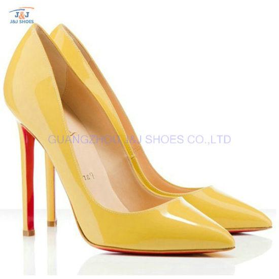 Fashion Ladies High Heel Dress Hedgehog Sexy Women Shoes (JJC-1575)
