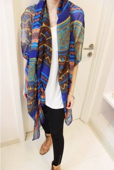 Long Style Fashion Lady Scarf pictures & photos