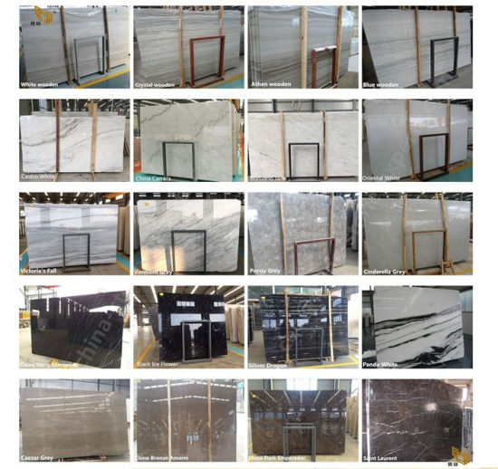 Cheap Polished White/Carrara/Calacatta/Grey/Brown/Black/Beige Natural Stone Marble Slabs for Kitchen/Bathroom/Flooring/Wall pictures & photos