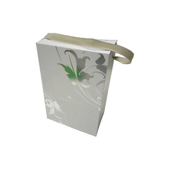 Siliver Foil Stamping Corrugated Wine Box with Embossed Logo