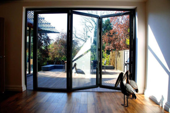 China Guangdong Door Factory Double Tempered Glass Aluminium Folding ...