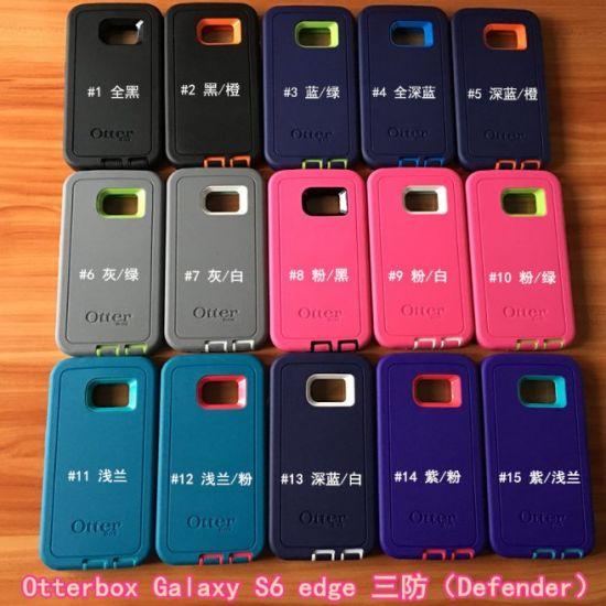 New Luxury Mobile Case High Hybrid Defender Mobile Phone Housing for Samsung S6 Edge for Otterbox