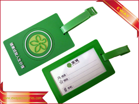 Promotional Luggage Travel Bag Tag Rubber Name