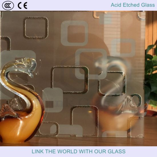 French Embossing Tempered Glass/Matte Glass with Acid Etched Glass 2mm-19mm pictures & photos