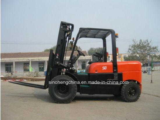 Logistics Lifting Equipment Diesel Forklift Truck 5tons