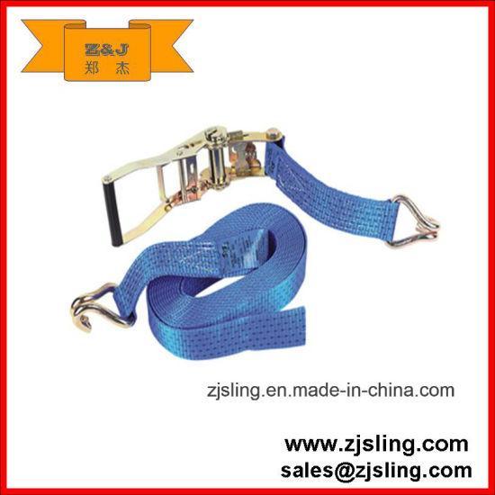 Customized Double J Hook Ratchet Tie-Down Strap 8m X 50mm