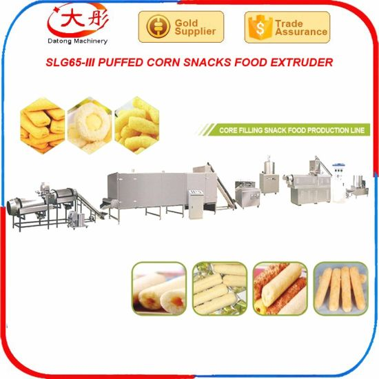 Inflating Snacks Food Processing Line