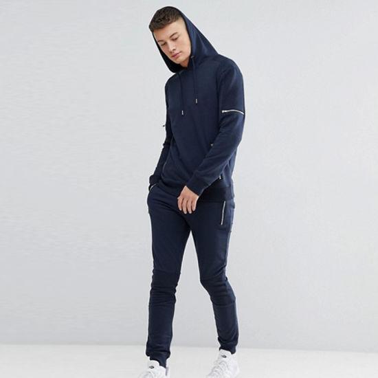 OEM High Quality Slim Fit Cotton Mens Plain Tracksuit