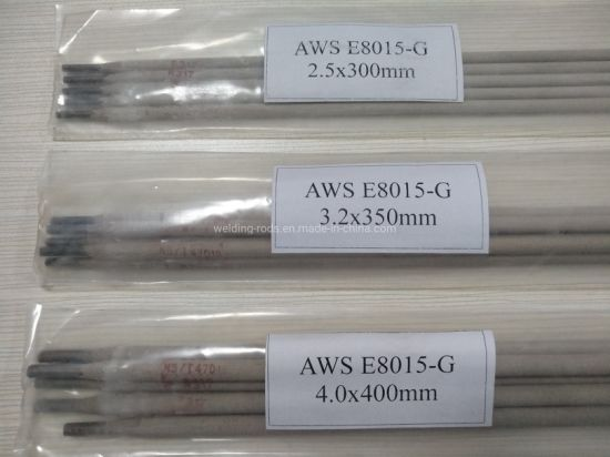 2.5*350mm 5kg Per Package E8015-G Low Alloy Steel Welding Rod pictures & photos