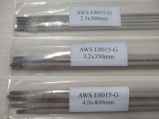 2.5*350mm 5kg Per Package E8015-G Low Alloy Steel Welding Rod
